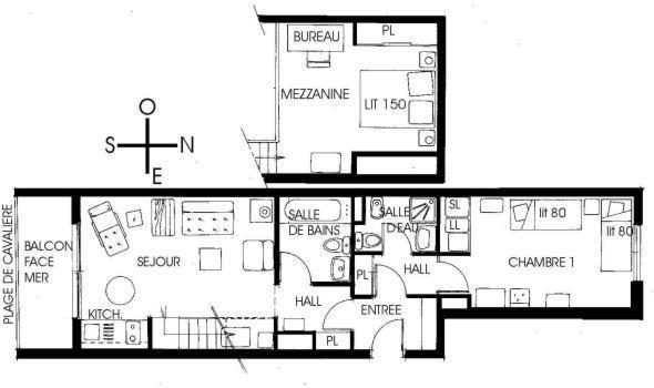 Location appartement 3 pièces les pieds dans l eau à Cavalière.