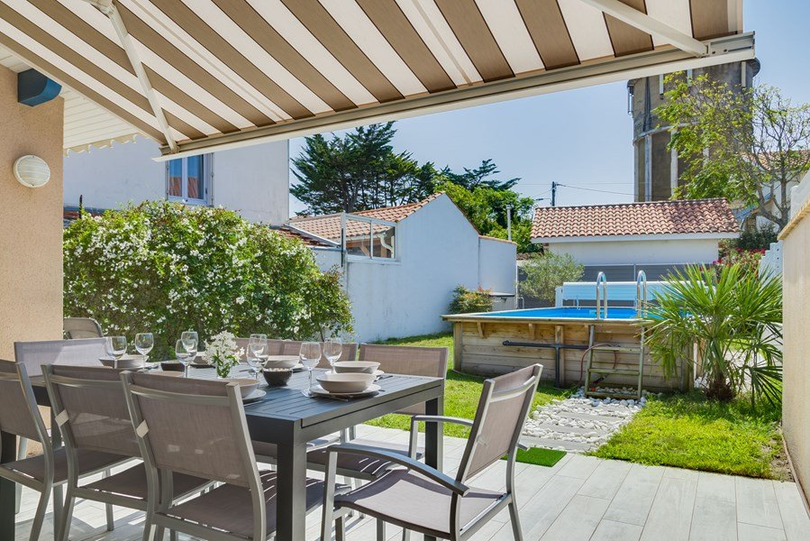holiday rental villa for 8 in Capbreton(40) with pool