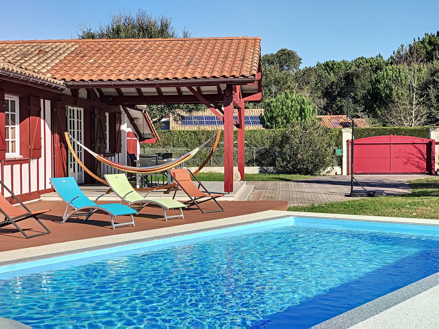 Holiday rental villa for 8 in Messanges  with pool