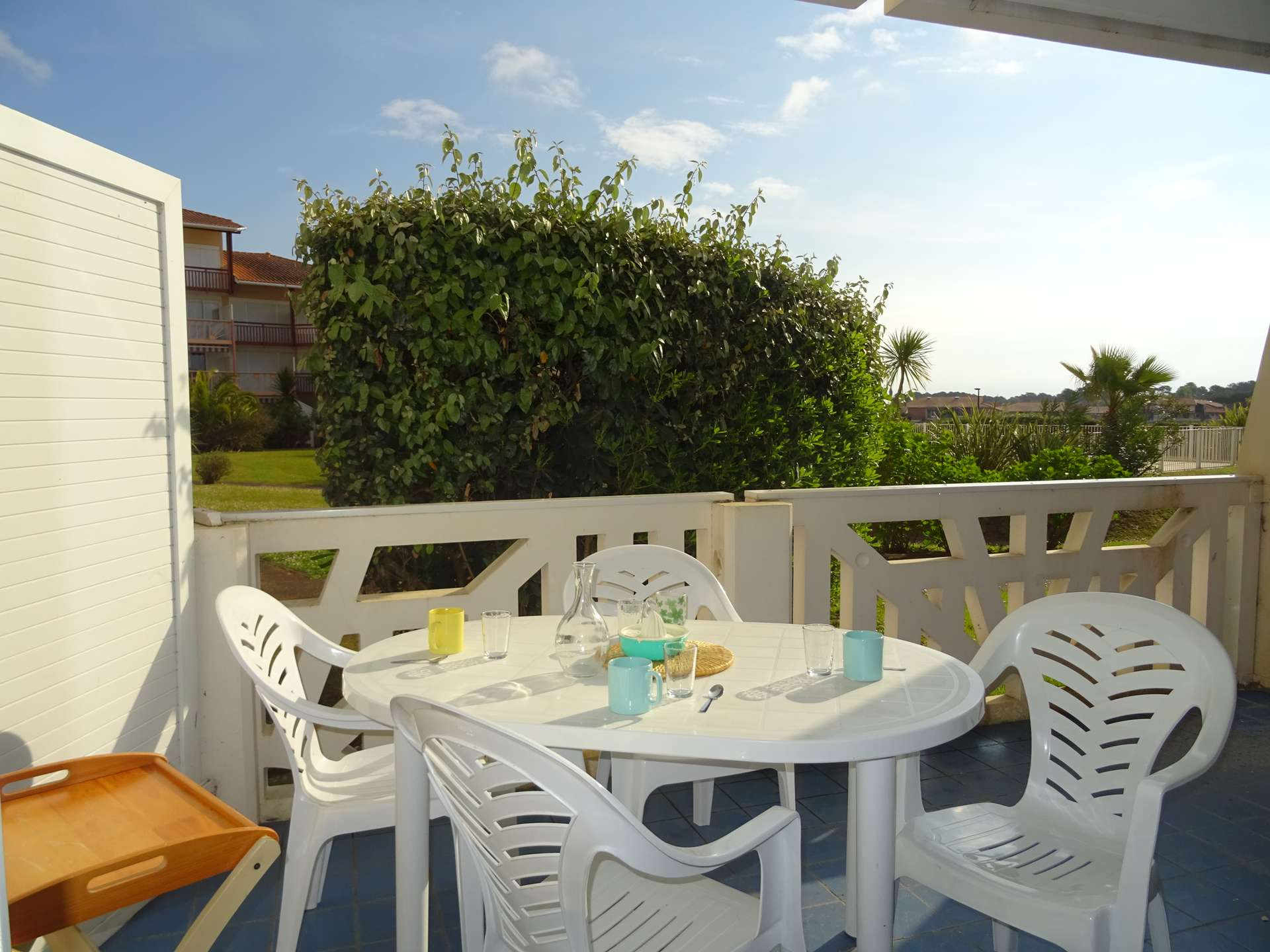 Location de vacances en appartement pour 4 personnes à Vieux Boucau(40) avec piscine