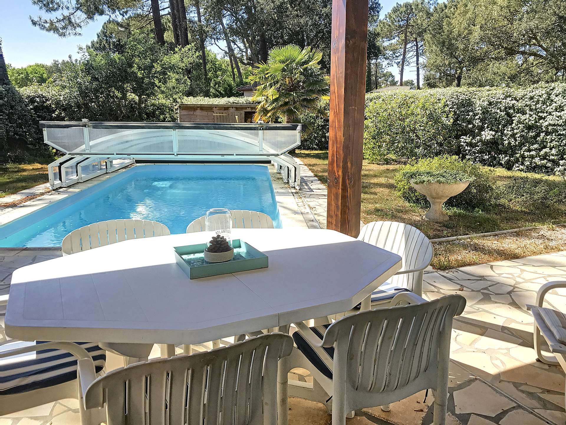 Holiday rental villa for 8 in Soustons Plage  with pool